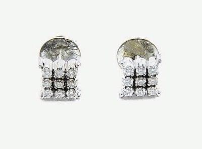 Diamonds 0 55ct Colour: H-I Clarity: Vvs2-Vs1 Stud Pin Earrings White Gold  18k /750